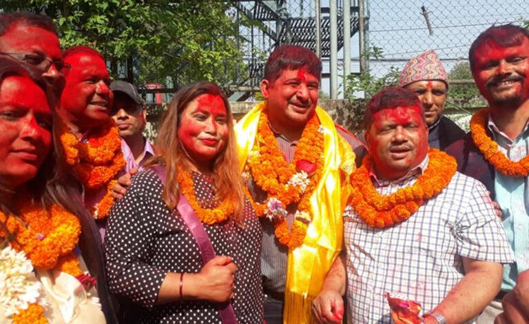 नेपाल पत्रकार महासंघको अध्यक्षमा विपुल पोखरेलको समुह विजयी